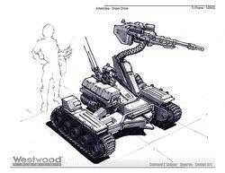 Sniper Drone concept art