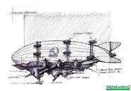 RA2 Kirov Airships Concept Art