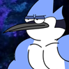 Bonus - Ripped Mordecai (Regular Show).png