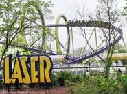Laser sign and coaster