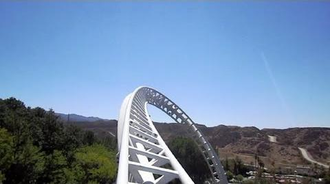 Full Throttle front seat on-ride HD POV Six Flags Magic Mountain
