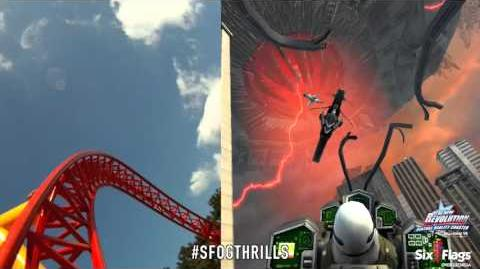 Six Flags Revolution The New Revolution Virtual Reality POV Split Screen