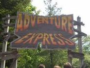 Adventure express sign