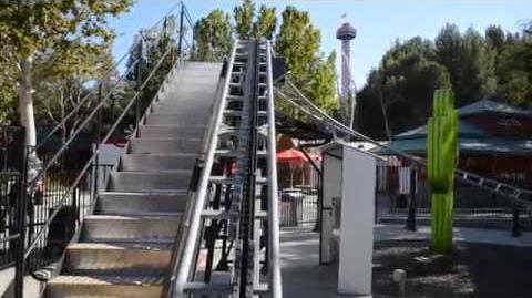 Speedy Gonzales Hot Rod Racers (Six Flags Magic Mountain) - Onride (1080p)