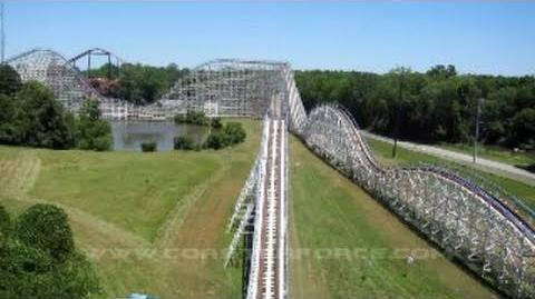 Great American Scream Machine (Six Flags Over Georgia) - OnRide - (720p)