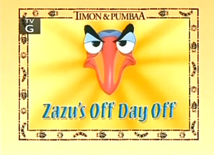 Zazu's off Day