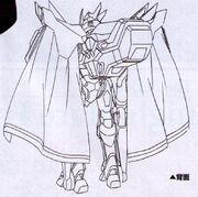 Sketch-Lancelot Grail with back appendages and cape