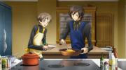 Lelouch and Rolo Cooking