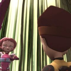 X.A.N.A.-Aelita attacks Ulrich.