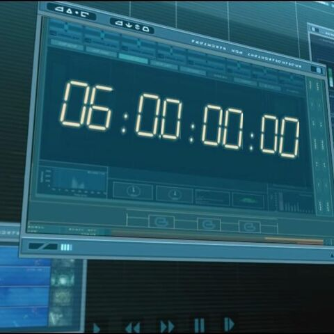 The countdown starts after executing the virus on the CD.