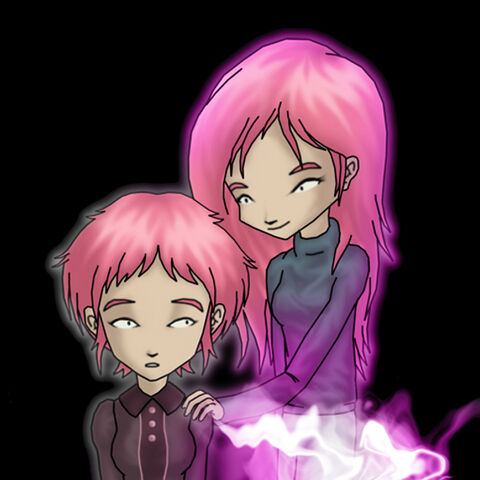 Anthea and Aelita, and the special virtual vehicle forming.