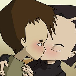 Yumi and Ulrich kissing.