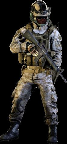 Assault M16A2 Render