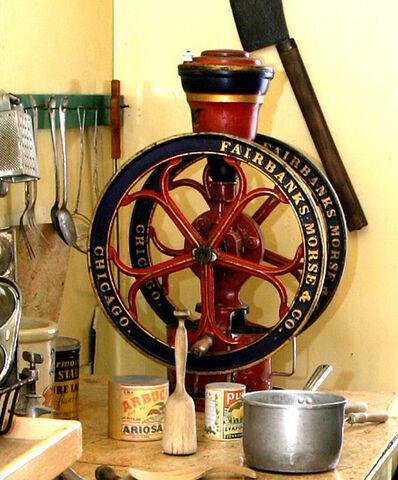 File:Large wheel coffee mill.jpg