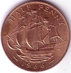 GBP 1966 0.5 Penny