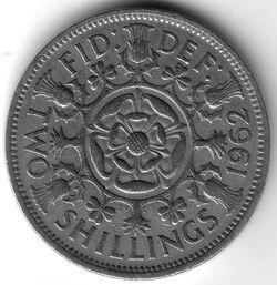 GBP 1962 2 Shilling