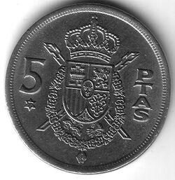 ESP ESP 1977 5 Peseta