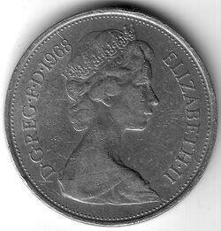GBP 1968 10 Pence
