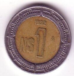 MXN 1992 1 Peso