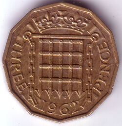 GBP 1962 3 Penny