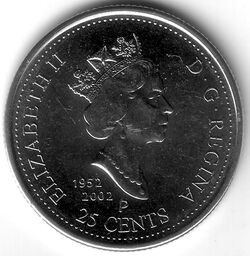 CAN CAD 2002 25 Cent - Canada Day