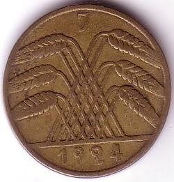 DEU DEM 1924 10 Rentenpfennig J