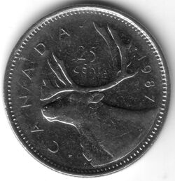 CAN CAD 1987 25 Cent
