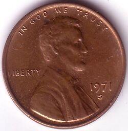 USD 1971 1 Cent S