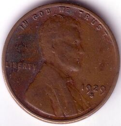 USD 1929 1 Cent S