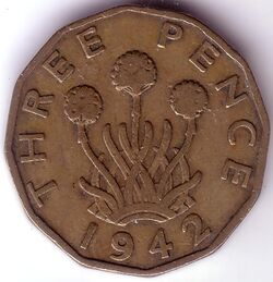 GBP 1942 3 Penny