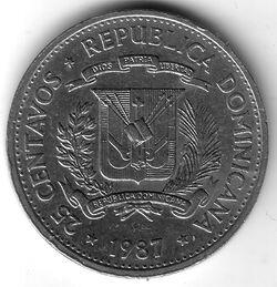 DOM DOP 1987 25 Centavo