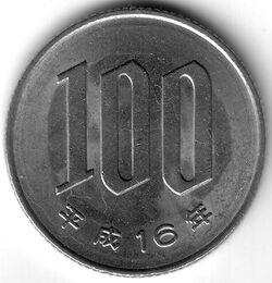 JPY 2004 100 Yen