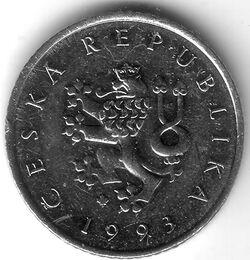 CZE CZK 1993 1 Koruna