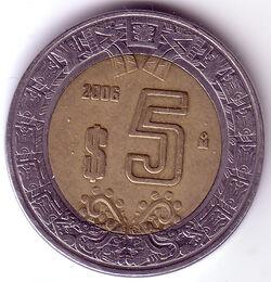 MXN 2006 5 Peso
