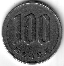 JPY 1970 100 Yen