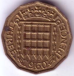 GBP 1960 3 Penny