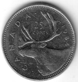 CAN CAD 1984 25 Cent