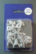 DEM065 Dwarf Boar knights on foot with swords & shields blister