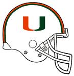NCAA-UM Hurricanes Helmet-732px