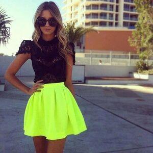 Neon-Yellow-Skirt