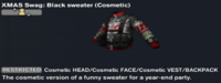 XMAS Swag Black sweater (Cosmetic)