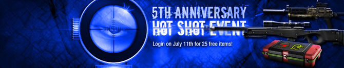 5th Anniversary Hot Shot Event Banner
