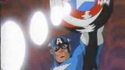 Captain America cartoon promo