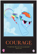MLPFiM ComicCon2012 Trolley Poster Courage FMA