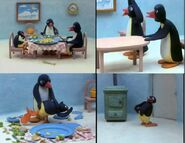Pingu gets spanked comic strip