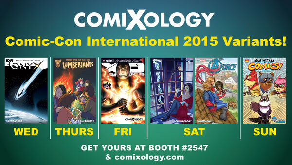 Comixology SDCC 2015 banner