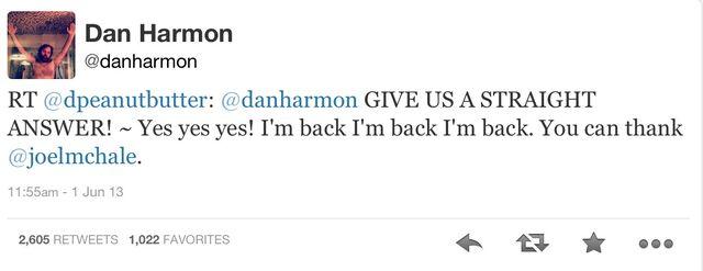 File:Dan Harmon Twitter return.jpg