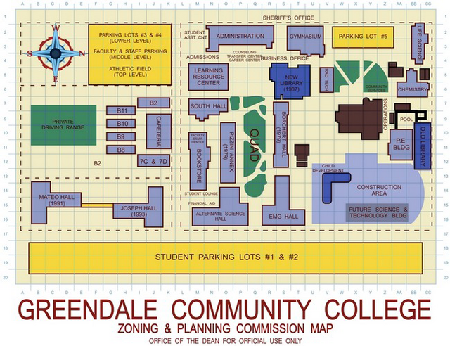 Greendale Community College campus map