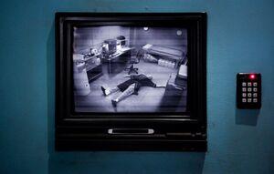 Pierce dead in the panic room