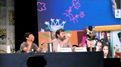 Annie's Boobs helps announce the Community Season 2 DVD